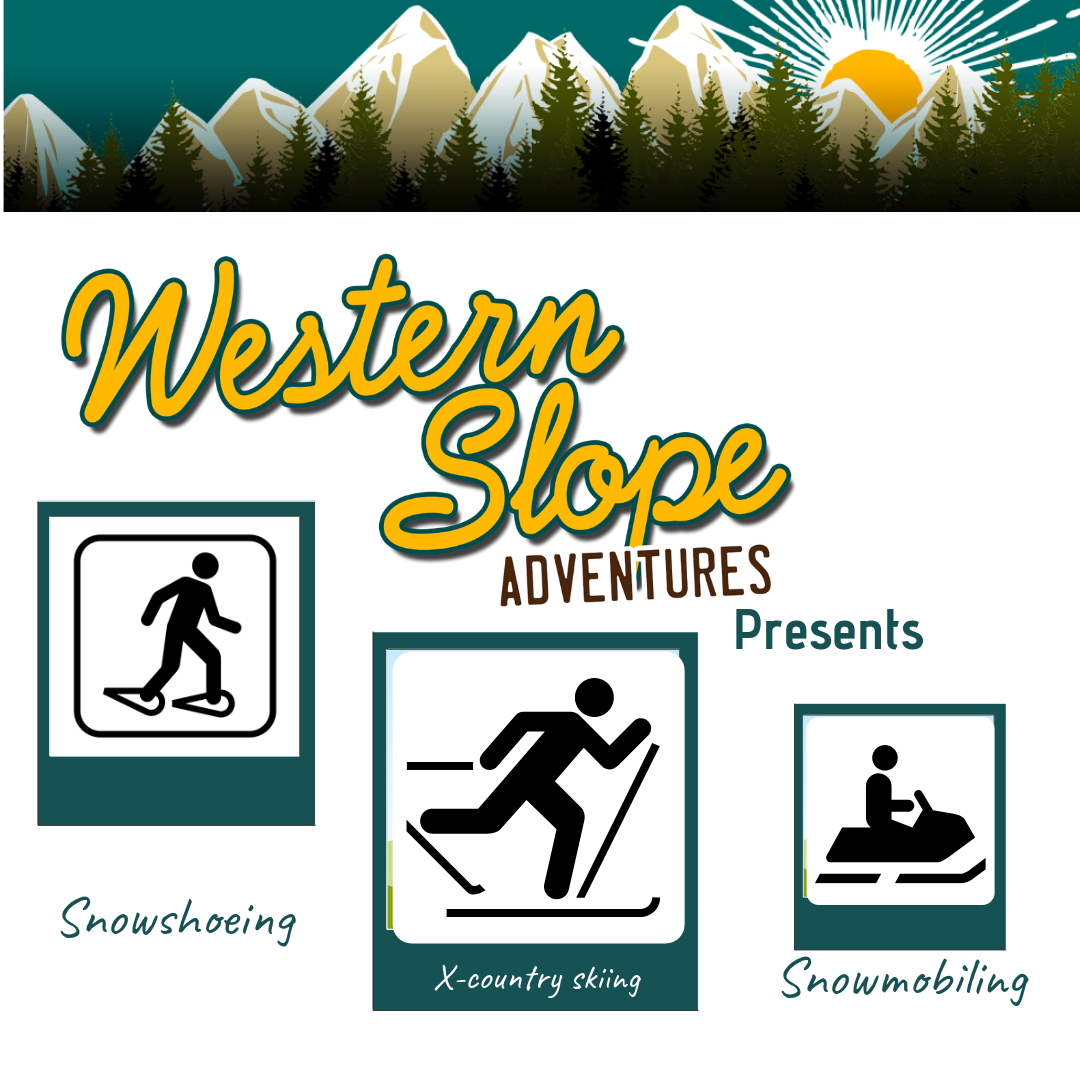 Showshoeing, X-country skiing, snowmobiling