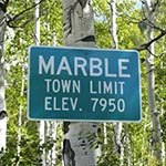 Marble sign 150x150