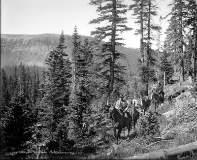 trail to trappers lake ca 1900